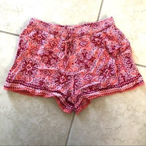 Hollister Paisley Relaxed Flowy Shorts